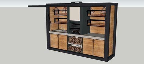kitchen outdoor 3d model 3d model obj fbx dae dwg skp mtl 6