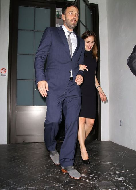 Pin for Later: The Way They Were: 10 Years of Ben Affleck and Jennifer Garner's Relationship Moments  Ben and Jennifer got dressed up for a date night at Spago in Beverly Hills in October 2012.