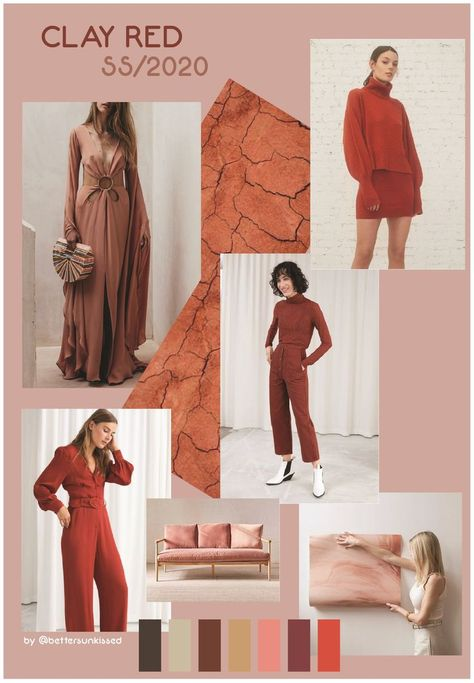 COLOR TREND FORECAST SS/2020 - SPRING SUMMER 2020 CLAY RED  #2020CLAY #Color #forecast #Red #spring #ss2020 #Summer #Trend