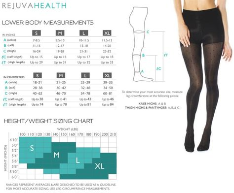 a78870193f5 Rejuva Sheer Black Dot Pantyhose Size Chart - BrightLife Go