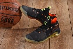 Under Armour Curry 6 Black Orange Green