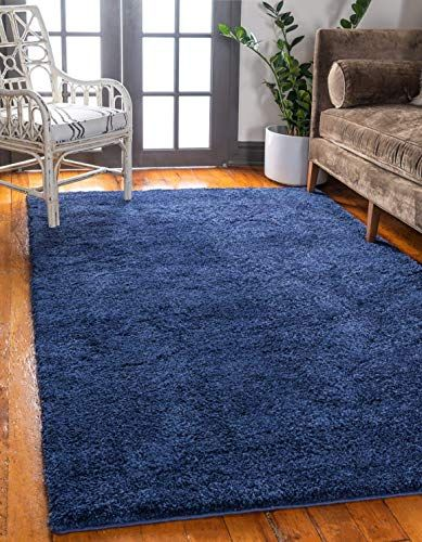 New Unique Loom Solo Collection Solid Plush Kids Navy Blue Area Rug 8 0 X 10 0 Online Shopping In 2020 Blue Area Rugs Navy Blue Area Rug Blue Carpet