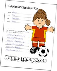 Friends Across America - kind of a Flat Stanley thing