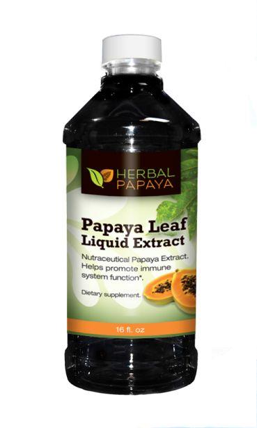 Papaya Leaf Extract Juice Liquid - 16oz - Organic, non gmo - Blood