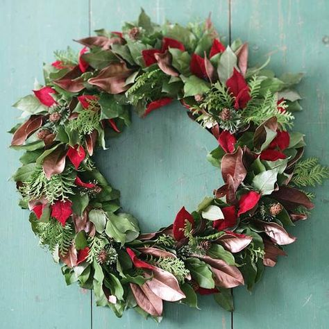 Add Layers to Your Christmas Wreath with Faux Leaves
