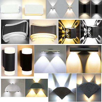 Modern Led Wall Light Up Down Lamp Sconce Fixture Cube Indoor Outdoor Home Garde Modern Sconces Sconce Lamp Living Room Light Fixtures