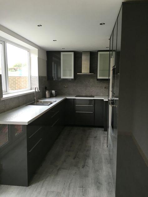 Ikea grey gloss Ringhult kitchen Kök Pinterest Kitchens - badezimmer m amp ouml bel set