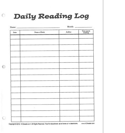 Ms Lippincott S Fourth Grade Class Reading Log Letter Template