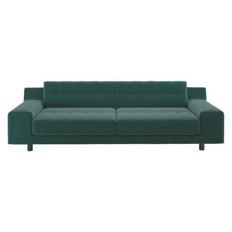 Hendricks Emerald Green Velvet 4 Seater Sofa Candd Living Room Green Velvet Sofa Velvet Sofa Sofa