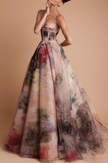 Watercolor dress. Rani Zakhem Haute Couture Fall/Winter 2013/2014