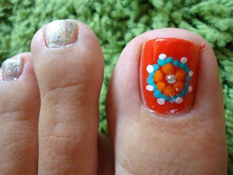Ethnic Toe Nail Art by paradisonailspa - Nail Art Gallery nailartgallery.nailsmag.com by Nails Magazine www.nailsmag.com #nailart