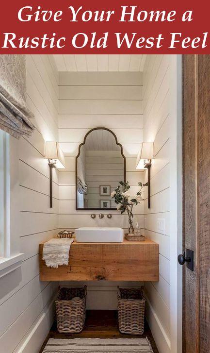 Southwestern Kitchen Decor Give Your Home A Rustic Old West Feel Diy Bathroom Remodel Bathroom Vanity Remodel Bathroom Remodel Master