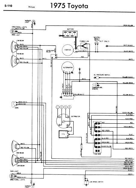 toyota hilux 1989 wiring diagram  toyota hilux toyota