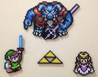 Link The Legend Of Zelda Perler Beads Sprite Perler Bead Designs
