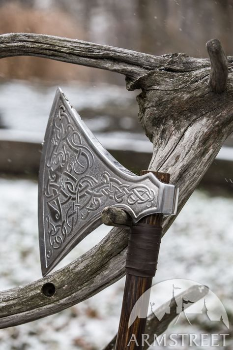 Axe head Medieval// SCA// Larp//BEARDED VIKING ETCHED AXE HEAD