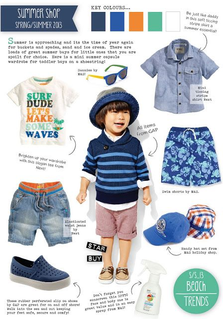 Another boys summer holiday trend I recently created for the Visit from the Stork Website