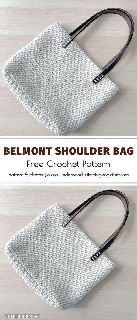 Crochet Tote, Crochet Handbags, Crochet Purses, Knit Or Crochet, Free Crochet, Crochet Shoulder Bags, Bag Pattern Free, Knitted Bags, Crochet Accessories