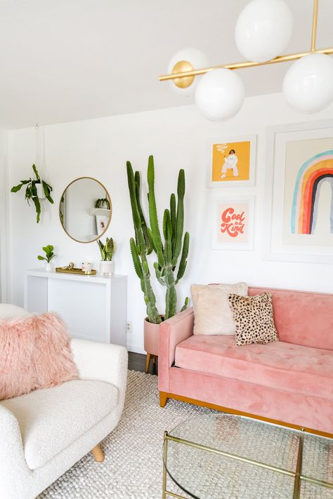 Lauras Front Room Refresh (Before After!) A Beautiful Mess Home Interior, Interior Design Living Room, Living Room Designs, Interior Livingroom, Dorm Room Designs, Interior Ideas, Room Ideas Bedroom, Diy Bedroom Decor, 50s Bedroom
