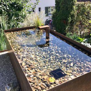Wassertrog Stahlbrunnen Metallbrunnen Brunnen Wasserbecken