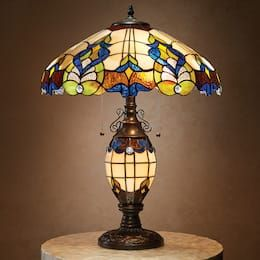 Wicklow Stained Glass Table Lamp Glass Light Fixtures Lamp Stained Glass