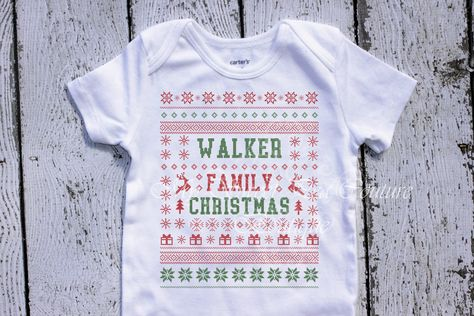 Ugly Christmas Sweater Family Christmas First Christmas Shirt Christmas Baby Shirt Christmas Shirt 1st Christmas Outfit Funny Baby Shirt by MySweetPeaCouture on Etsy