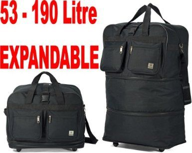 53-190L Double Expandable Extra Large Wheeled Holdall 3 in 1 ...