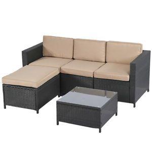 New Outdoor Patio Furniture 5pc Rattan Wicker Sofa Conversation