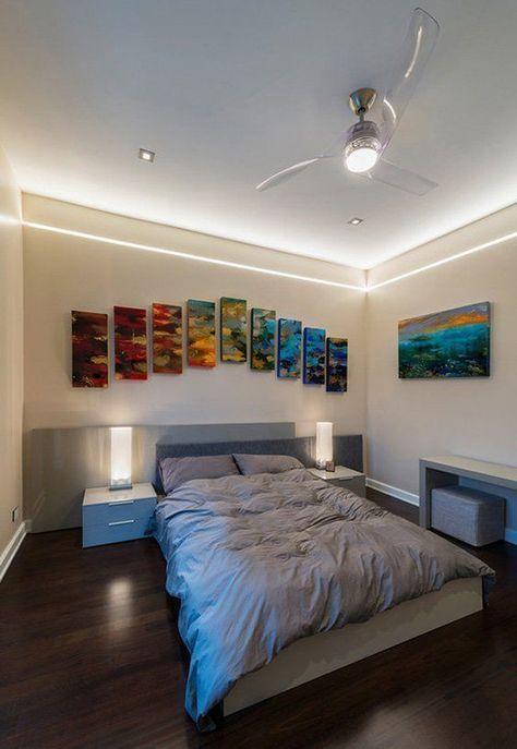 23 Trendy Ideas For Led Strip Lighting Ideas Bedroom Ceilings Led Lighting Bedroom Cool Lights For Bedroom Master Bedroom Lighting