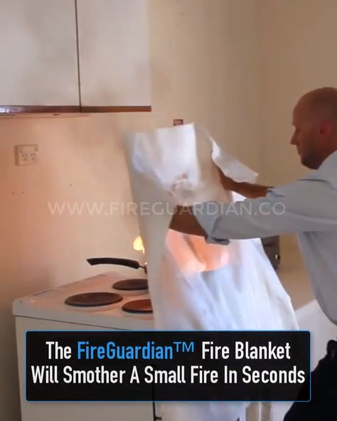 What would you do if a grease fire ignited on your stove or if your toaster caught fire? You may have a fire extinguisher nearby, but are you prepared to operate it? At times like this, when every second matters, another option might be the FireGuardian™ Fire Blanket.