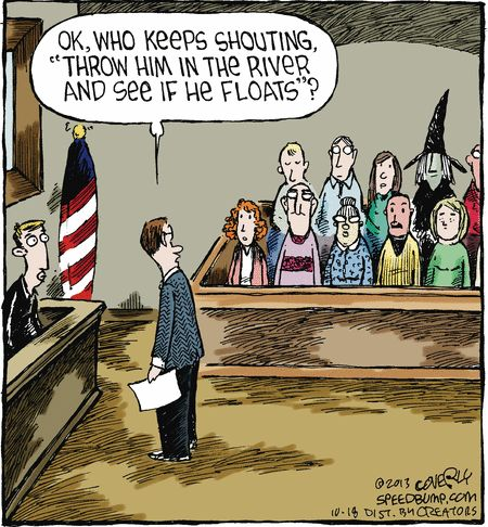 Today on Speed Bump - Comics by Dave Coverly Boston Legal, Speed Bump Comic, Lawyer Humor, Far Side Cartoons, Jury Duty, Legal Humor, Halloween Cartoons, Halloween Humor, Samhain Halloween