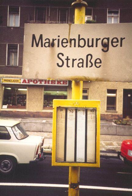 1989 Haltestelle Marienburger Strasse Berlin East Germany Berlin Germany East Berlin