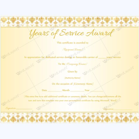 13 best Years of Service Award images on Pinterest Award - award paper template