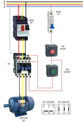3 Phase Electric Motor Wiring Diagram:  Non-Stop ,Design