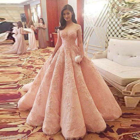 Blush Pink Evening Dress New Fashion Gorgeous Sweet 16 Gowns pink long Quinceanera DressesBlush Pink Evening Dress New Fashion Prom Dress Gorgeous Sweet 16 Gowns pink evening dresses long Quinceanera Dresses