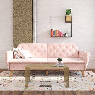 Tallulah Memory Foam Futon Pink Novogratz In 2020 Home Decor Decor Furniture