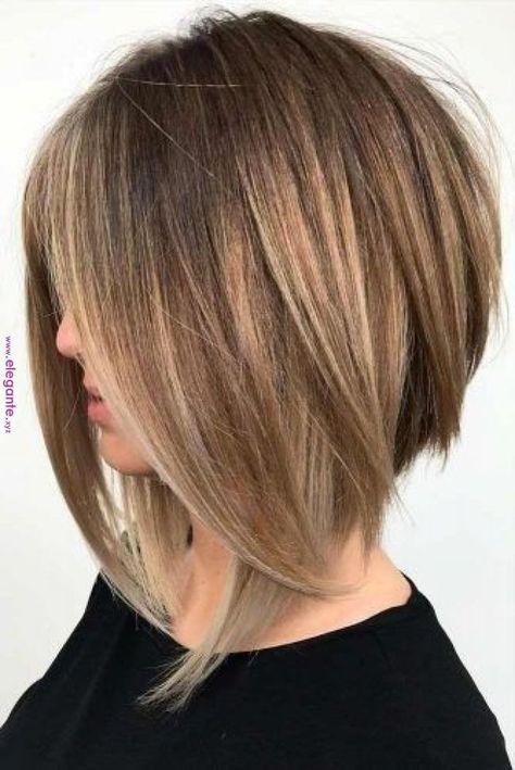 Frisuren fur dickes haar mittellang