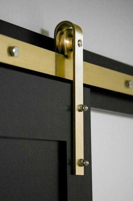 Brass Classic Sliding Barn Door Hardware Kit Barn Door Hardware Barn Door Handles Sliding Barn Door Hardware