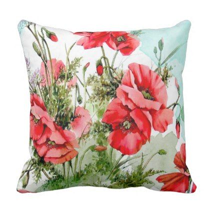 Flowers Painting Watercolor Throw Pillow Zazzle Com Watercolor Throw Pillow Watercolor Flowers Paintings Flower Painting