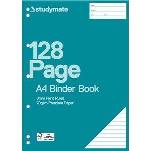 Studymate Premium A4 Binder Book 128 Page Officeworks 2 00 Book Design Books Binder