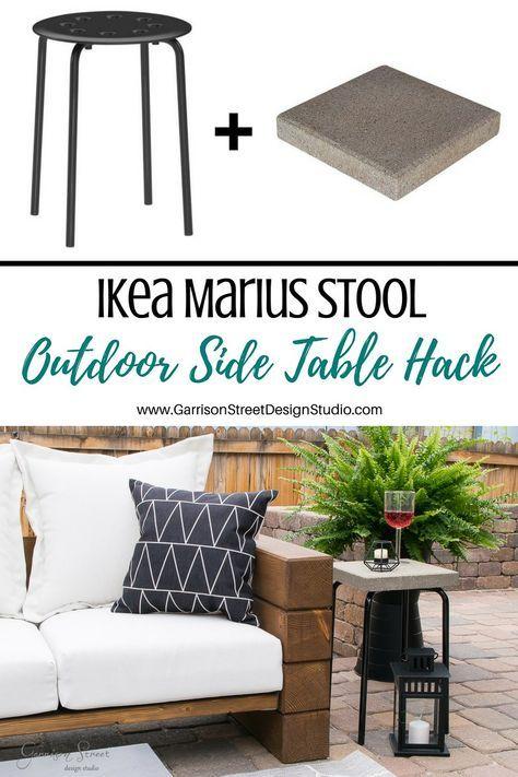 Ikea Marius Stool Outdoor Side Table Hack Garrison Street Design Studio Ikea Patio Furniture Ikea Patio Ikea Outdoor
