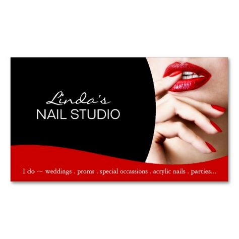 Nail Technician ~ Business Card Template. I love this design! It is available for customization or ready to buy as is. All you need is to add your business info to this template then place the order. It will ship within 24 hours. Just click the image to make your own!
