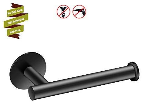 Marmolux Acc Black Toilet Paper Holder For Bathroom Toilet Roll Tissue Storage Self Adhesive Black Toilet Paper Holder Toilet Paper Holder Towel Rack Bathroom