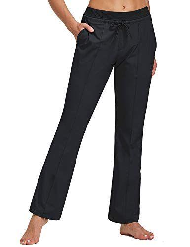 BALEAF Womens Boot Cut Pants UPF 50 Hiking Pants Water Resistant Stretch Lightweight Pants