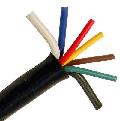 Pico 8157S 7-Way Trailer Wiring Cable 7-14ga Conductor 100\' per ...