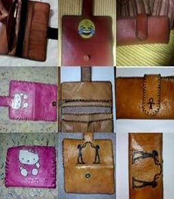 بوك حريمي جلد طبيعي هاند ميد حفر ليزر من افضل واغلي انواع الجلد الطبيعي ومعاها مدالية جلد طبيعي هديه Trifold Wallet Suitcase