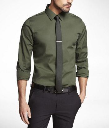 great color - EXPRESS | Men's Fashion | Pinterest | Green shirt ...