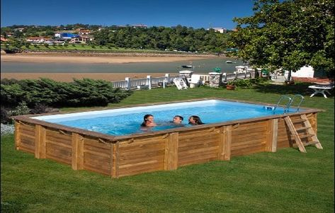 Above Ground Wooden Swimming Pools