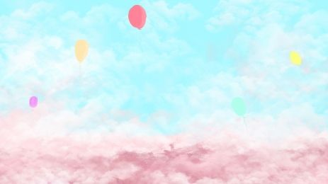 Colorful Peacock Cartoon Background Balloon Cartoon Colorful Clouds