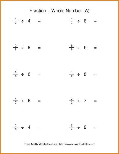 Fraction And Division Worksheets Fractions Worksheets Math Worksheets Dividing Fractions Worksheets
