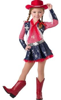 Country Cowboy Hoedown Dance Costume Jazz Tap Child /& Adult